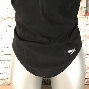 Speedo Swim - Speedo Siren Fitmesh One Piece Swimsuit in Black